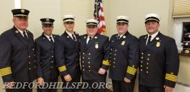 The 2018 Board of Chiefs with Officers from Yorktown Heights Engine Co #1.