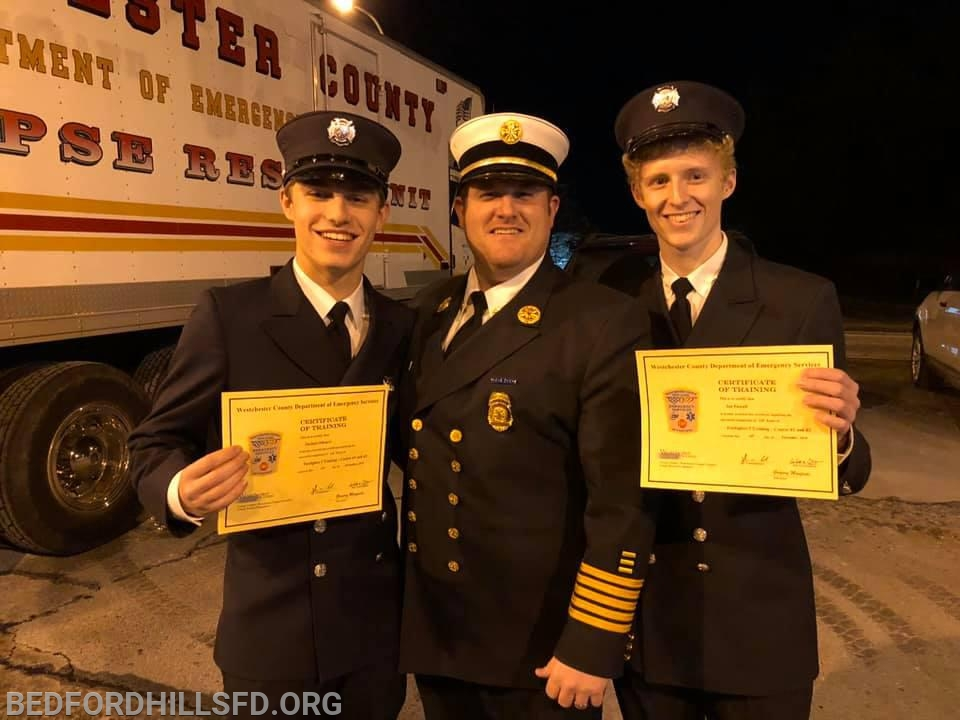 Firefighter Micucci, Chief Nickson and Firefighter Purcell.  Not Pictured: Firefighters Hohner and Joseph